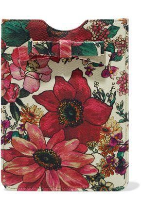 RED(V) Bow-embellished floral-print canvas tablet case