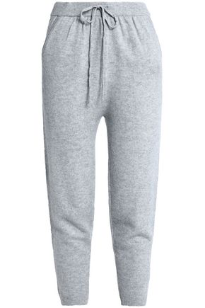 T by ALEXANDER WANG Wool and cashmere-blend track pants