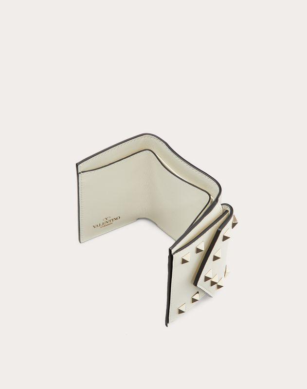 Маленький бумажник Rockstud из телячьей кожи