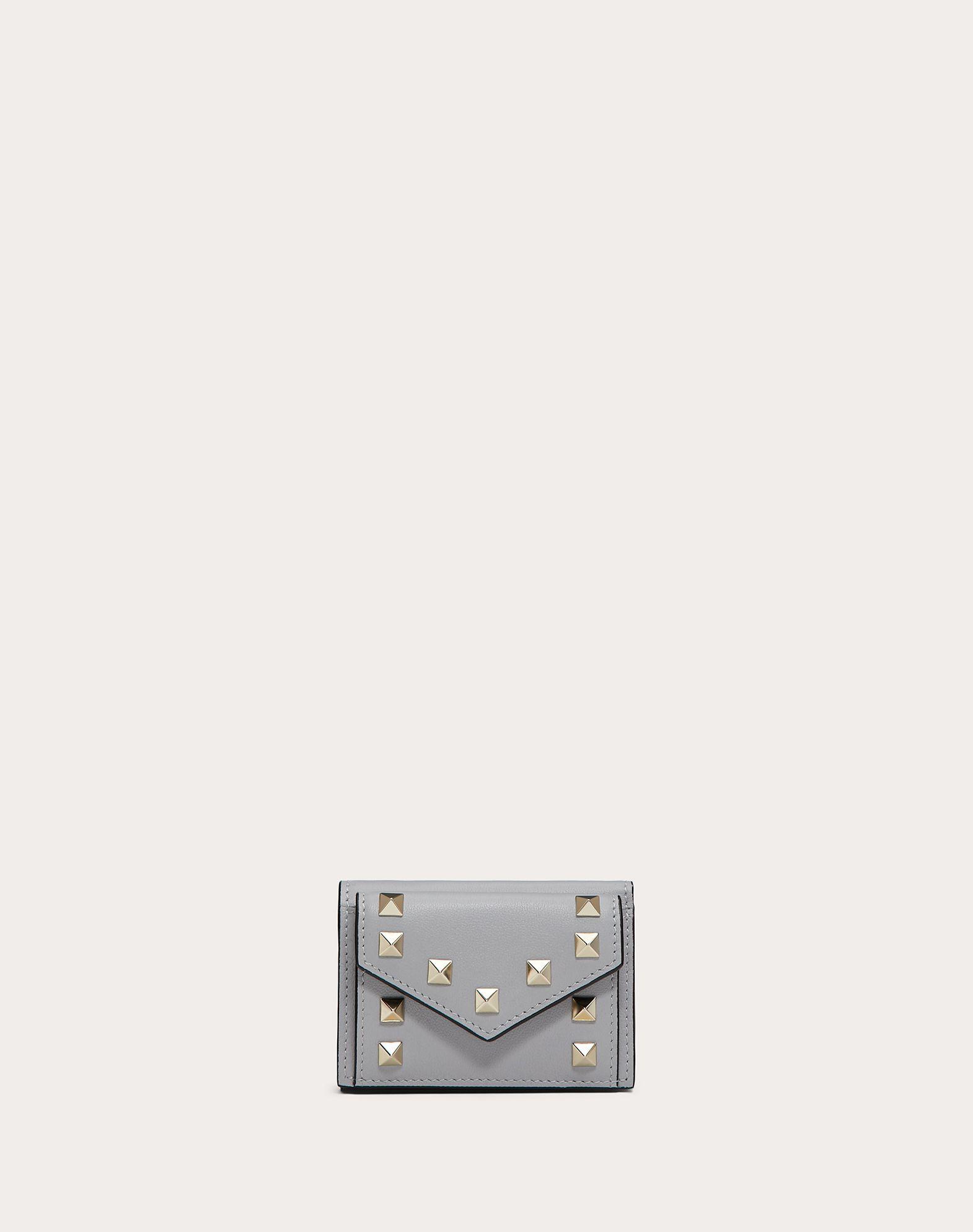 Small Rockstud Calfskin Wallet