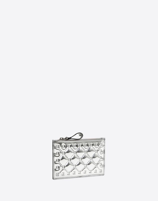 Metallic Rockstud Spike Coin Purse