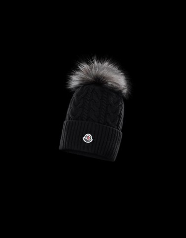 POMPOM BEANIE Black New in Woman