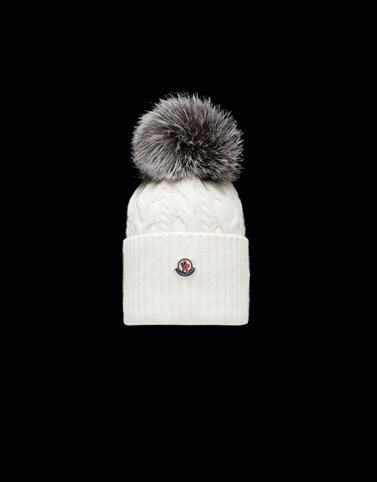 POMPOM BEANIE Ivory Category Hats Woman