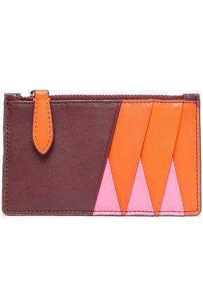 DIANE VON FURSTENBERG Color-block leather cardholder