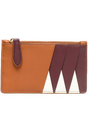 DIANE VON FURSTENBERG Color-block leather cardholder