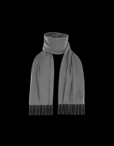 SCARF Light grey Scarves & Gloves Man