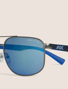 ARMANI EXCHANGE BLUE MIRROR SPORT AVIATOR Sunglass Man d