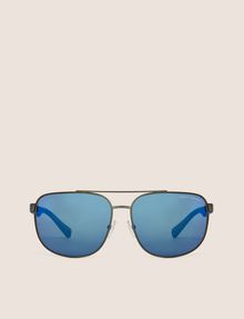 ARMANI EXCHANGE BLUE MIRROR SPORT AVIATOR Sunglass Man r
