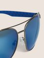 ARMANI EXCHANGE BLUE MIRROR SPORT AVIATOR Sunglass Man e