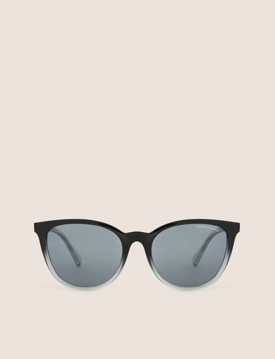 GREY OMBRE ROUNDED SUNGLASSES