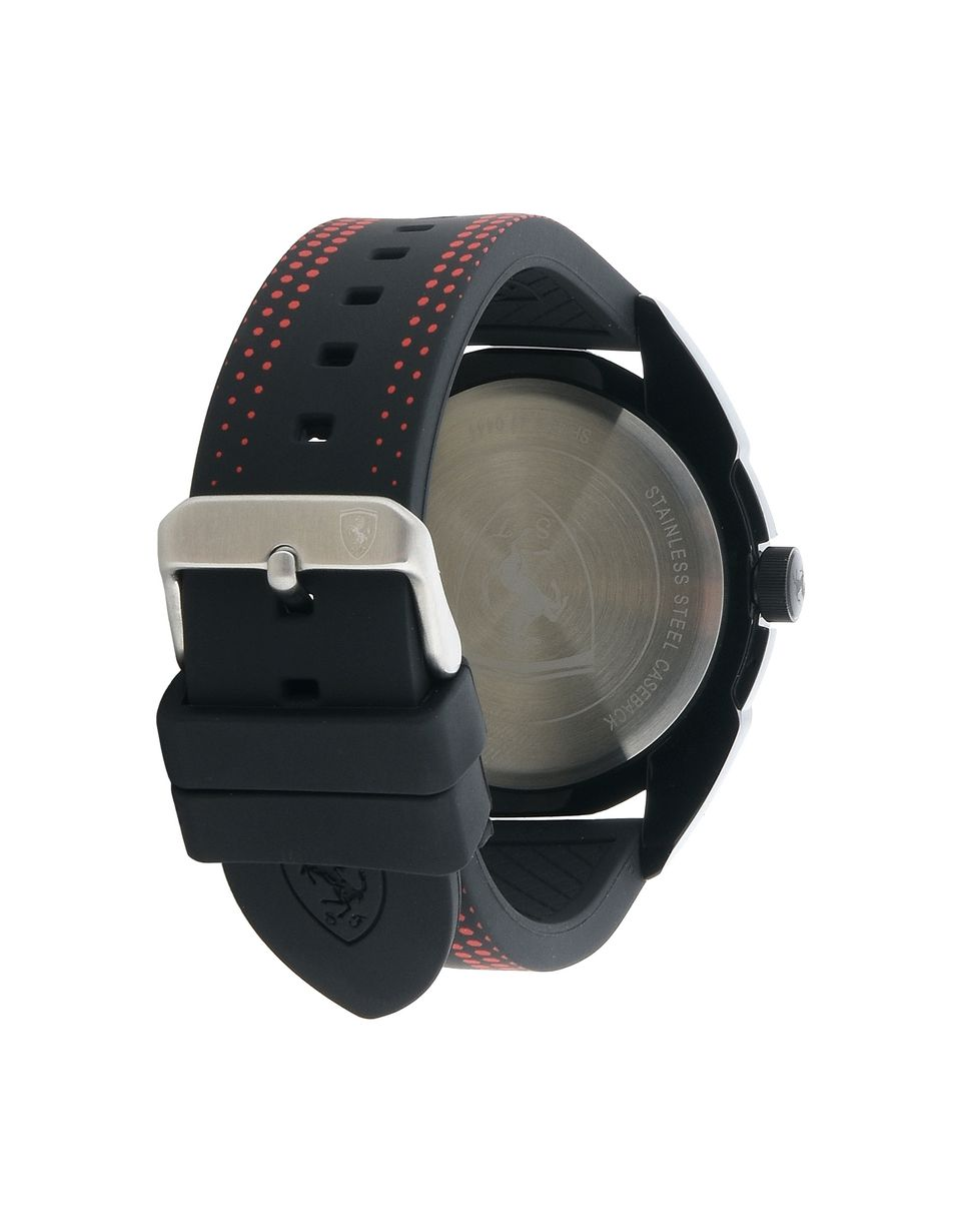 Scuderia Ferrari Online Store - Forza quartz watch in black with red details - Quartz Watches