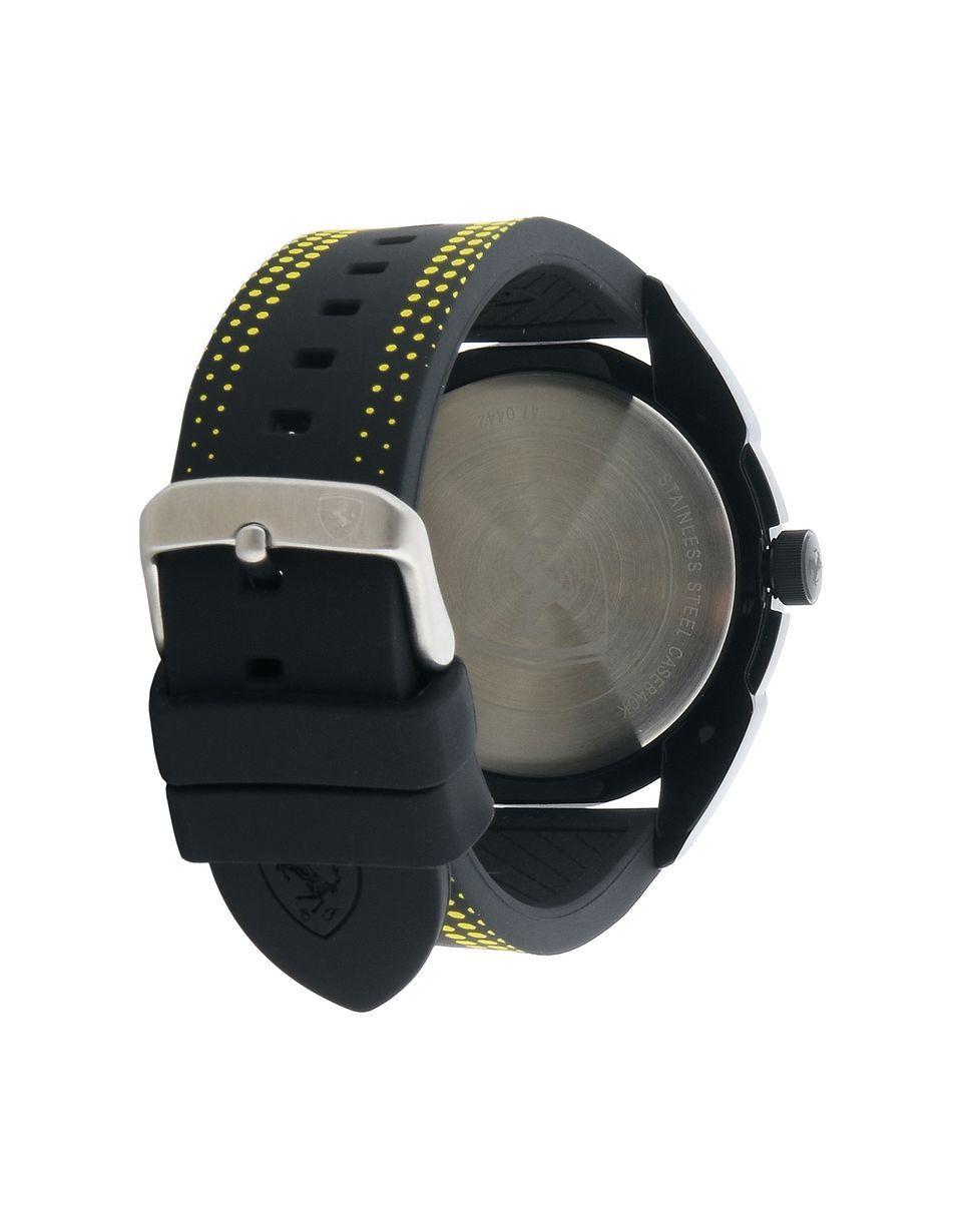 Scuderia Ferrari Online Store - Reloj de cuarzo Forza negro con detalles amarillos - Relojes de cuarzo