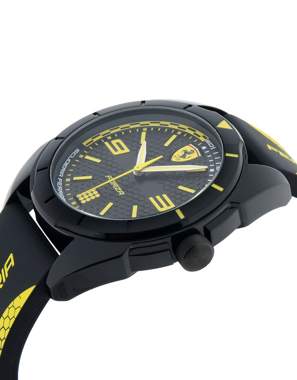 Scuderia Ferrari Online Store - Forza quartz watch in black with yellow details - Quartz Watches