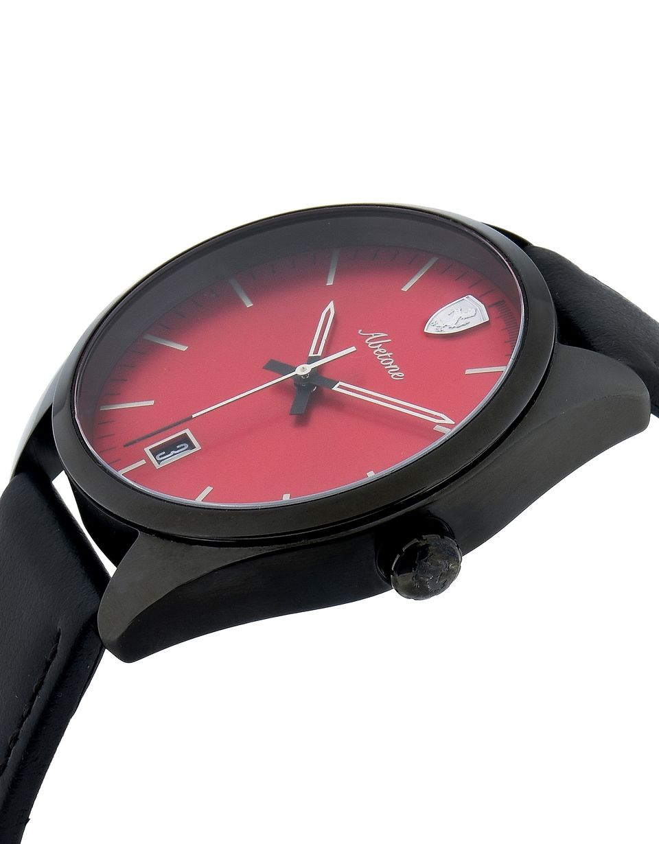 Scuderia Ferrari Online Store - Abetone watch in black with red dial - Quartz Watches