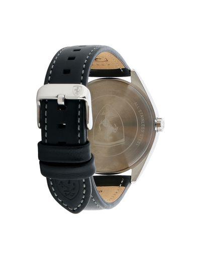 Scuderia Ferrari Online Store - Abetone watch with black dial and leather strap - Quartz Watches