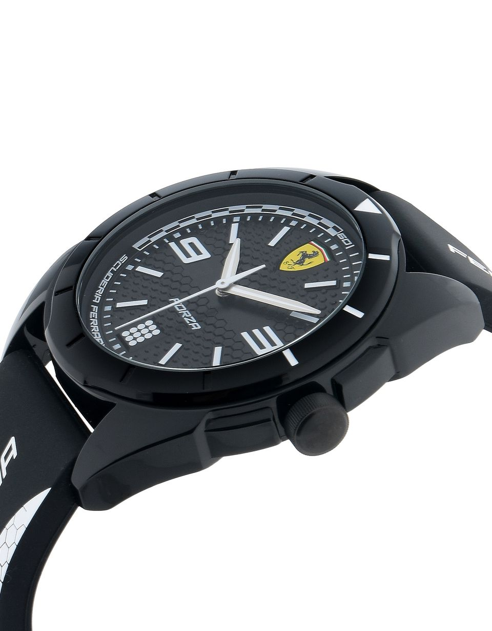 Scuderia Ferrari Online Store - Forza quartz watch in black with white details - Quartz Watches