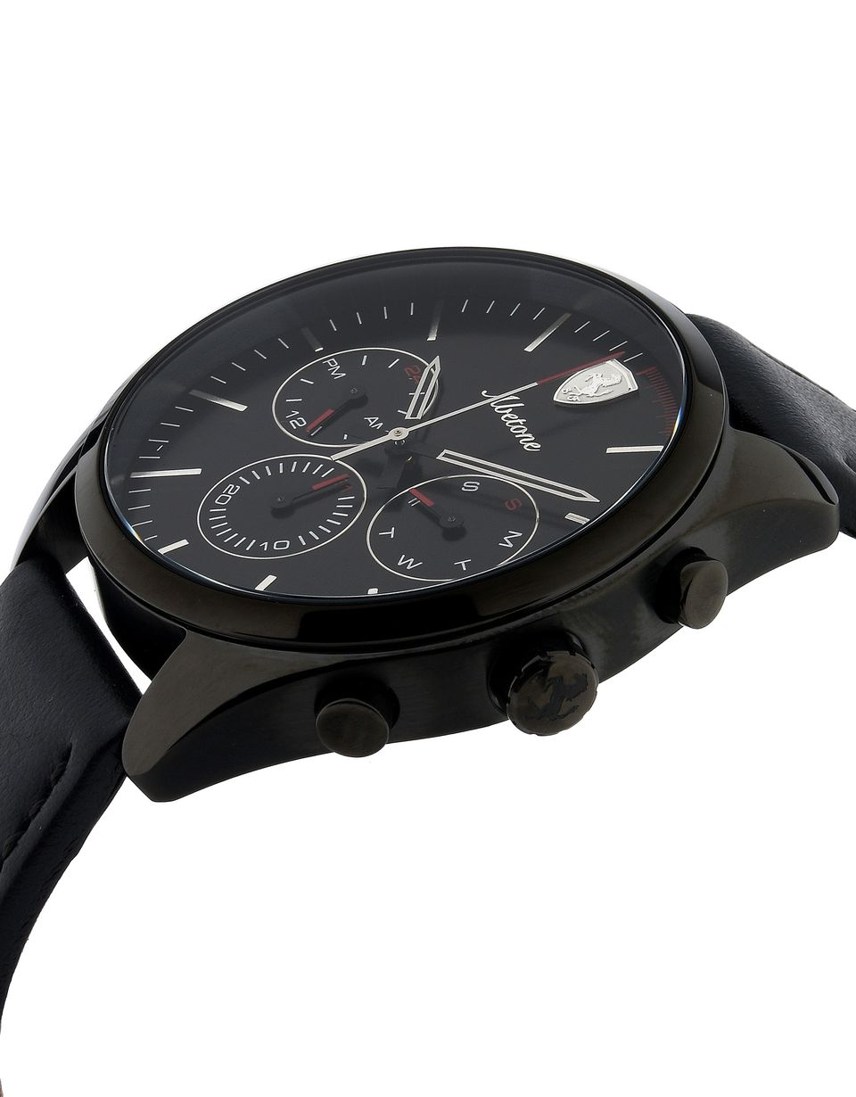 Scuderia Ferrari Online Store - Abetone multifunctional watch in black - Quartz Watches