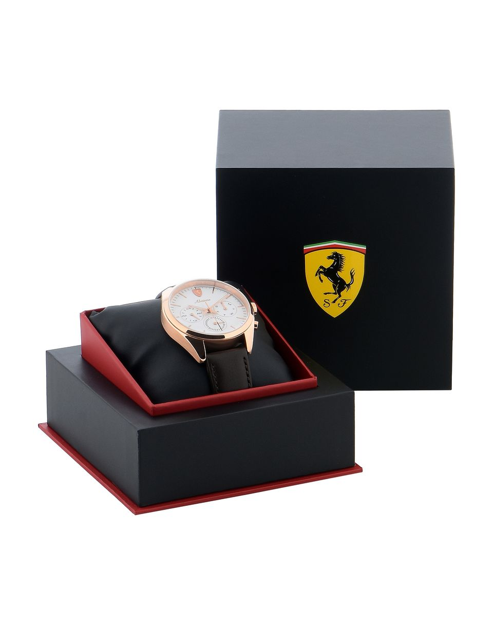 Scuderia Ferrari Online Store - Abetone multifunctional watch with white dial - Quartz Watches