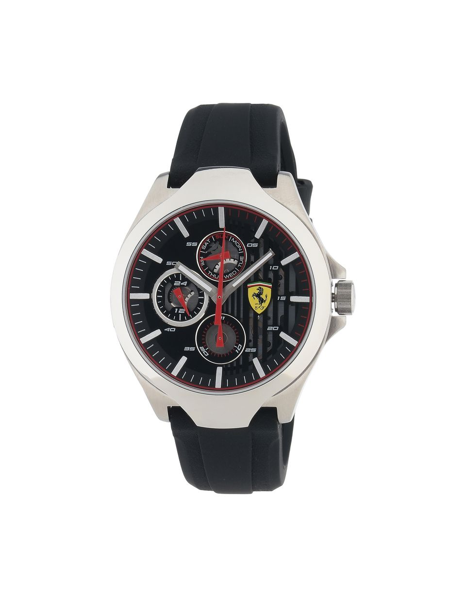 Scuderia Ferrari Online Store - Aero multifunctional with black dial and strap - Quartz Watches