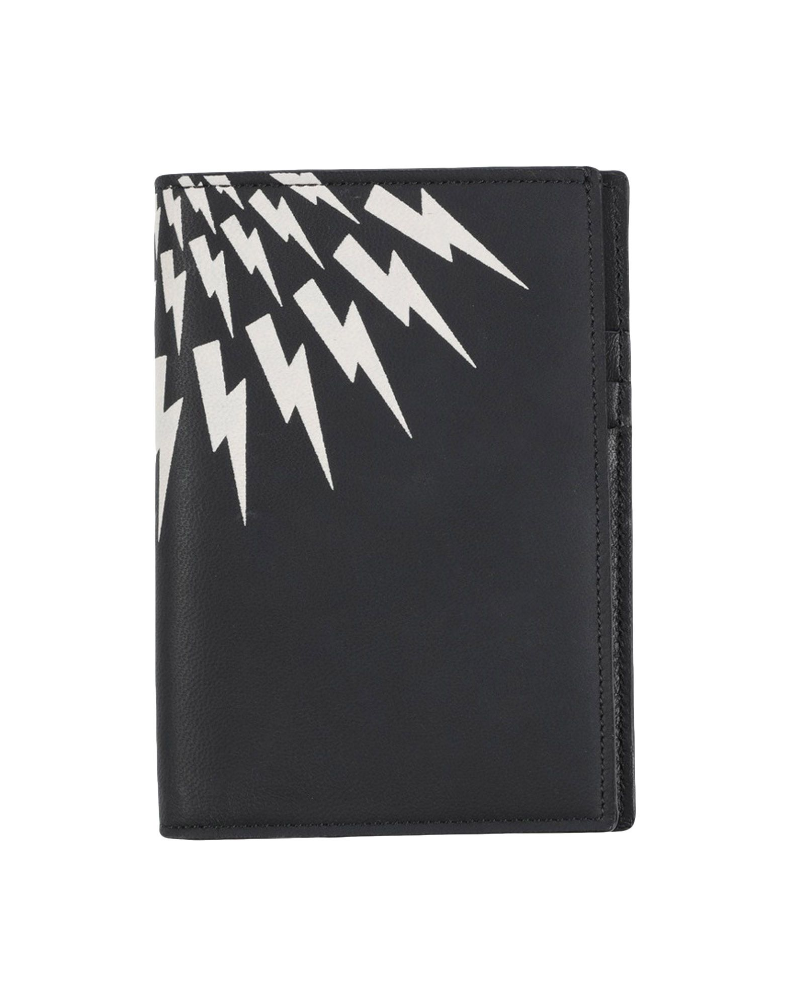 NEIL BARRETT Document holders. leather, print, solid color, internal card slots, leather lining, contains non-textile parts of animal origin. Soft Leather