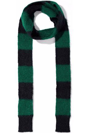 REDValentino Striped intarsia mohair-blend scarf