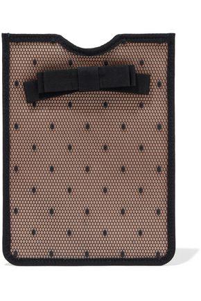 RED(V) Bow-embellished point d'esprit rubber tablet case