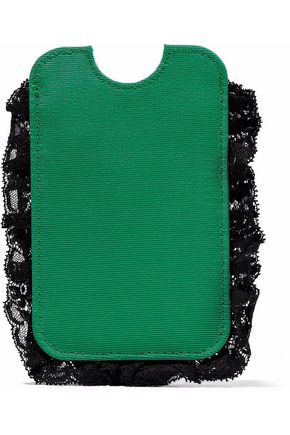 RED(V) Lace-trimmed faille phone case