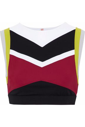 NO KA 'OI Lani color-block scuba sports bra