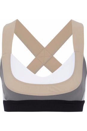 NO KA 'OI Ola color-block cutout tech-jersey sports bra