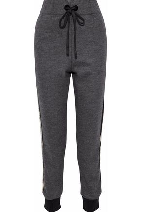 NO KA 'OI Pahi shell-trimmed wool-blend track pants