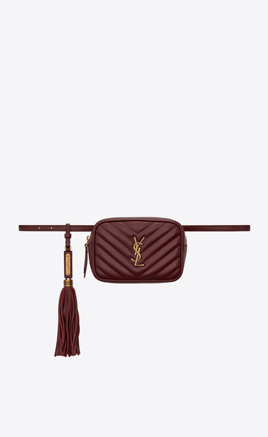 SAINT LAURENT Belt Bags Woman Lou belt bag in burgundy leather a_V4