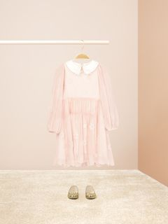 Star-embroidered dress