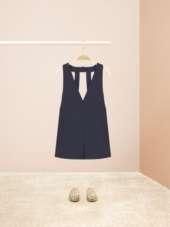 Pinafore short overalls