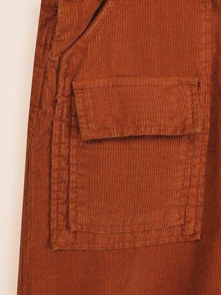 Jupe-culotte en velours côtelé