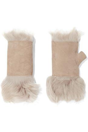 KARL DONOGHUE Reversible shearling fingerless mittens