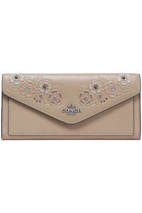 COACH Embellished embossed leather wallet