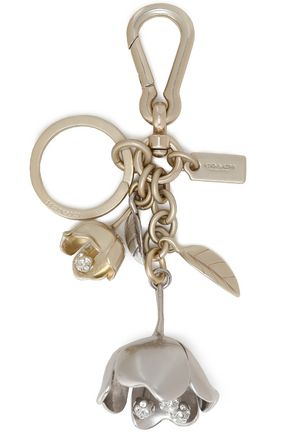 COACH Silver and gold-tone crystal keychain