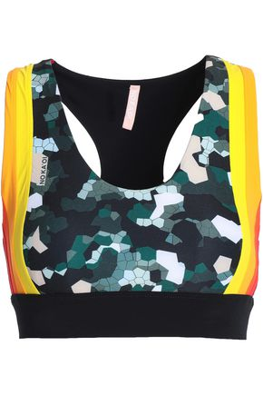 NO KA 'OI Printed stretch sports bra