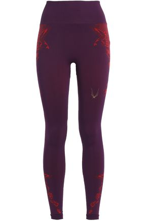 LUCAS HUGH Hummingbird printed stretch-jersey leggings