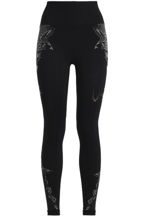 LUCAS HUGH Printed tech-jersey leggings