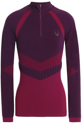 LUCAS HUGH Deco two-tone stretch-jersey rash guard