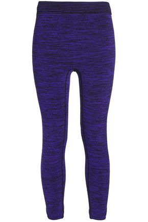 PEPPER & MAYNE Cropped mélange stretch leggings