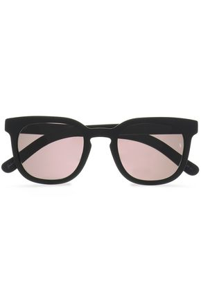 SUNDAY SOMEWHERE نظارات شمسية بإطار على شكل D من الأسيتات