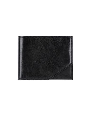 JIL SANDER メンズ 財布 ブラック 革