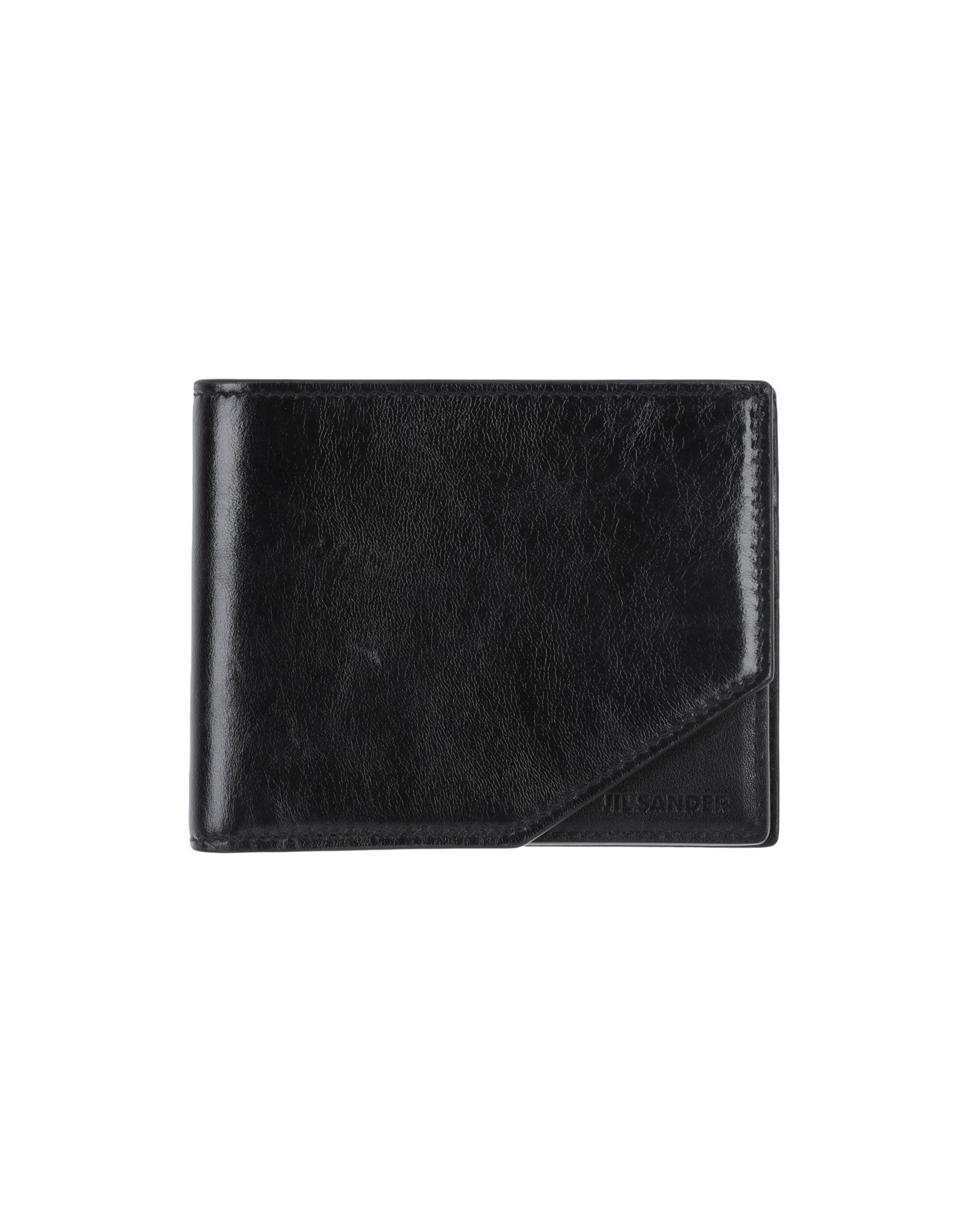 《送料無料》JIL SANDER メンズ 財布 ブラック 革
