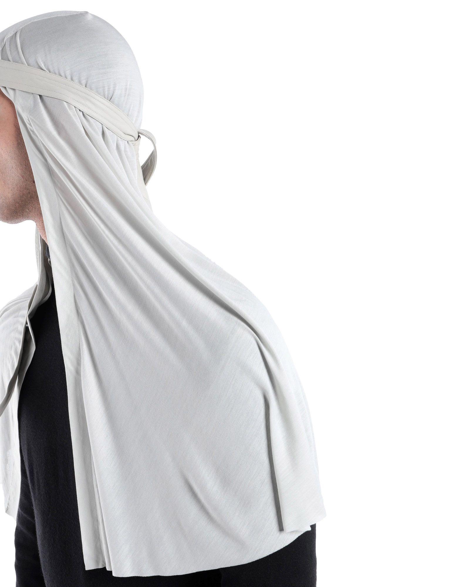 《期間限定セール中》RICK OWENS メンズ ヘアアクセサリー ライトグレー one size シルク 100% / リアルファー