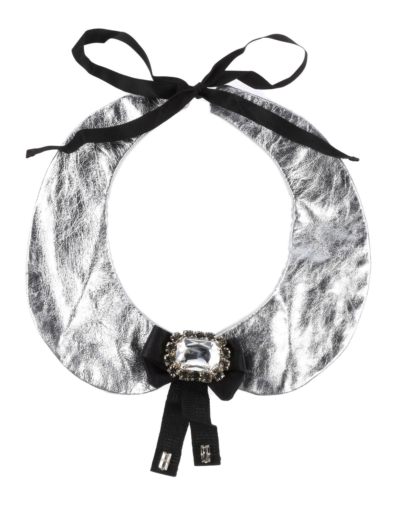 《セール開催中》DOLCE & GABBANA ガールズ 9-16 歳 ネックカラー シルバー 10 羊革(ラムスキン) 95% / シルク 5%
