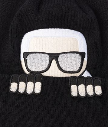 Karl Lagerfeld - K/Ikonik Wool Blend Beanie Hat - 2
