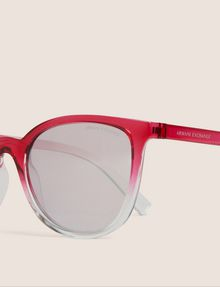 ARMANI EXCHANGE PINK OMBRE ROUNDED SUNGLASSES Sunglass Woman d