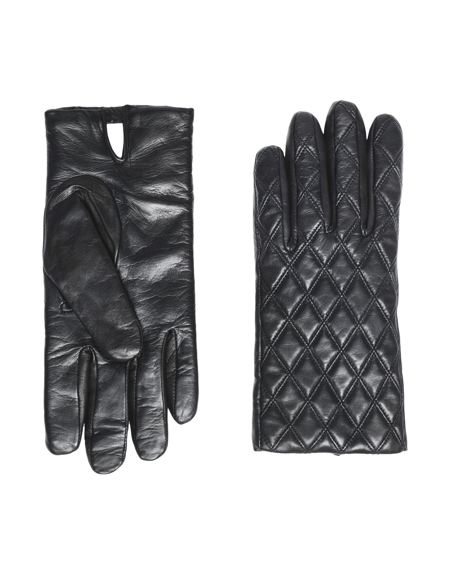 8 by YOOX Перчатки кожаные перчатки на меху